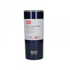 Built Double Walled Drinks Tumbler With Lid Midnight Blue 590ml