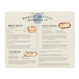 Bread Recipes Large Glass Work Surface Protector