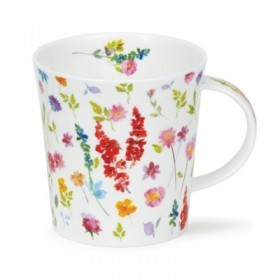 Dunoon Lomond Mug Belles Fleurs Red 320ml