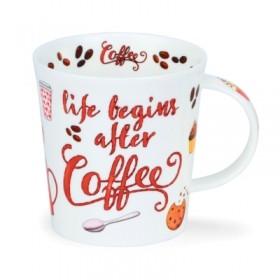 Dunoon Lomond Mug Life Begins After Coffee 320ml