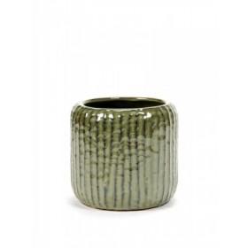 Serax Swamp Green Rib Pot 15cm