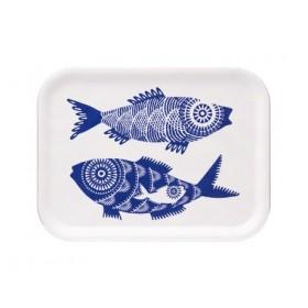 Jamida Asta Barrington Shoal of Fish White Lap Tray 27cm