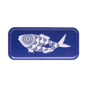 Jamida Asta Barrington Shoal of Fish Blue Food And Drinks Tray 32cm