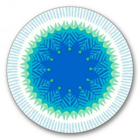 Jamida Asta Barrington Fiesta Blue Drinks Coaster Mat 10cm