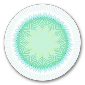 Jamida Asta Barrington Fiesta White Coaster 10cm