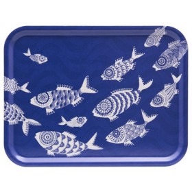 Jamida Shoal of Fish Blue Tray 43cm