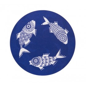 Jamida Asta Barrington Shoal of Fish Blue Trivet 21cm