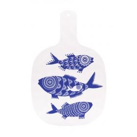 Jamida Asta Barrington Shoal of Fish White Chopping Board 35cm