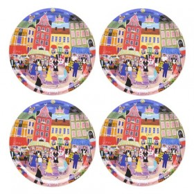 Jamida Bessie Johanson Stockholm in My Heart 4pc Coasters 11cm