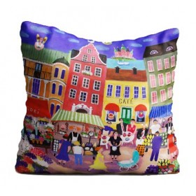 Jamida Bessie Johanson Stockholm in my Heart Cushion 48cm