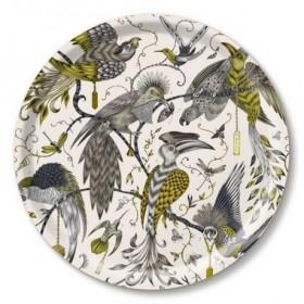 Jamida Emma J Shipley Audubon Gold Round Drinks Tray 39cm