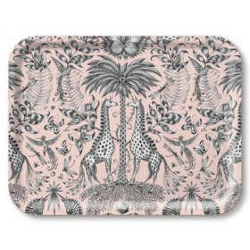 Jamida Emma J Shipley Kruger Pink Food and Drinks Lap Tray 43cm