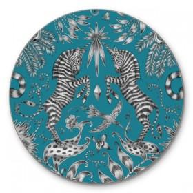 Jamida Emma J Shipley Kruger Turquoise Drinks Coaster Mats 10cm