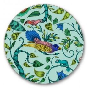 Jamida Emma J Shipley Turquoise Rousseau Coaster 10cm
