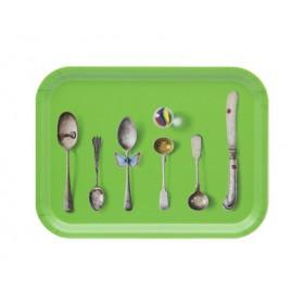 Jamida Michael Angove Cutlery Green Lap Tray 27cm