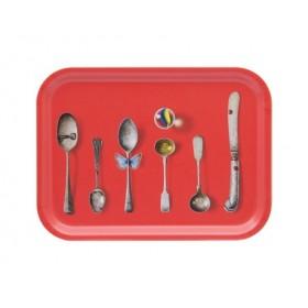 Jamida Michael Angove Cutlery Red Lap Tray 27cm