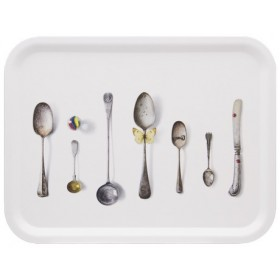 Jamida Michael Angove Cutlery White Tray 43cm