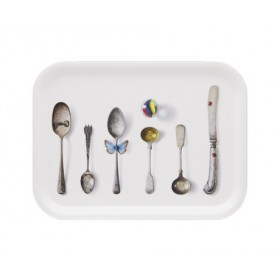 Jamida Michael Angove Cutlery White Tray 27cm