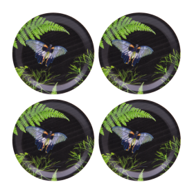Jamida Michael Angove Black Dill 4pc Coaster Set