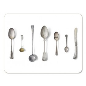 Jamida Michael Angove Cutlery White Placemat 29cm