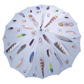 Jamida Michael Angove Feathered Blue Umbrella 110cm