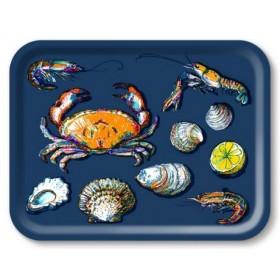 Jamida Michael Angove Seafood Navy Lap Tray 43cm