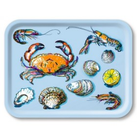 Jamida Michael Angove Seafood Blue Lap Tray 43cm
