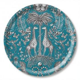 Jamida Emma J Shipley Kruger Turquoise Drinks Tray 39cm