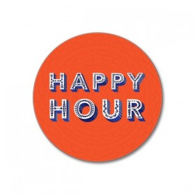 Jamida Word Collection Happy Hour Coaster 10cm