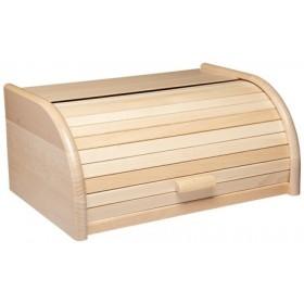 KitchenCraft Beech Wood Roll Top Bread Bin
