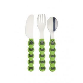 Kitchen Craft Kids Three Piece Caterpillar Cutlery Set