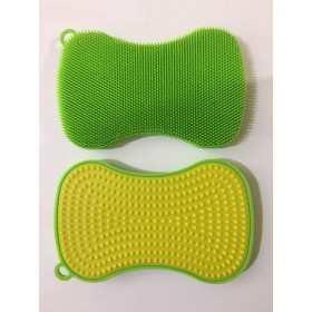 Kuhn Rikon Double Sided Stay Clean Scrubber Green/Yellow