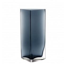 Leonardo Centro Vase Triangle Blue 34cm