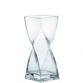 Leonardo Glass Swirl Vase 25cm