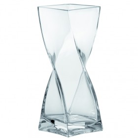 Leonardo Glass Swirl Vase 30cm
