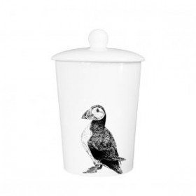 Little Weaver Arts Puffin Storage Canister