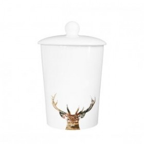 Little Weaver Arts Canister Stag Gold Majestic