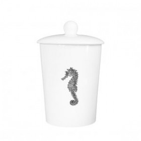 Little Weaver Arts Canister Seahorse
