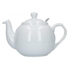 London Pottery Farmhouse 4 Cup Filter Teapot White