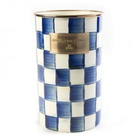 MacKenzie Childs Royal Check Utensil Jar