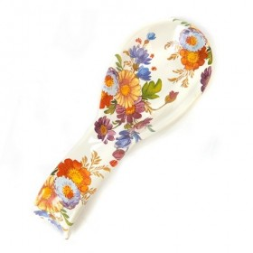 MacKenzie Childs White Flower Market Spoon Rest