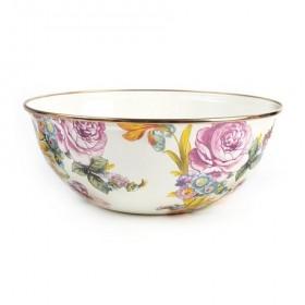 MacKenzie-Childs White Flower Market Bowl 24cm