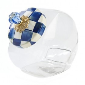 MacKenzie Childs Royal Check Cookie Jar