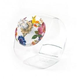 MacKenzie Childs White Flower Market Cookie Jar