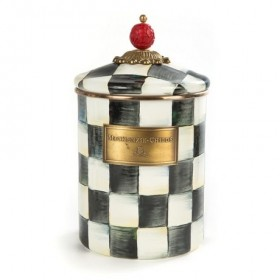 MacKenzie Childs Courtly Check Canister Medium