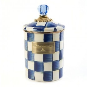 MacKenzie Childs Royal Check Canister Medium
