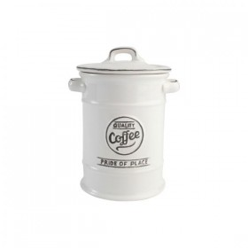 Pride Of Place Coffee Canister Old White