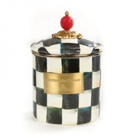 MacKenzie Childs Courtly Check Canister Small