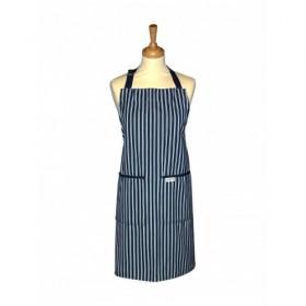 Sterck Apron Butchers Navy Pin Stripe
