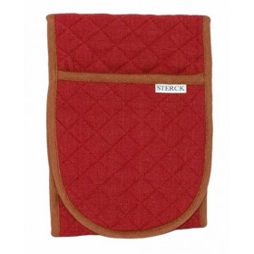 Sterck Carom Double Oven Glove Two Tone Burgundy and Brown
